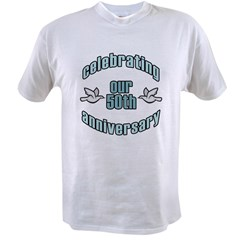 50th Wedding Doves Anniversary Value T-shirt