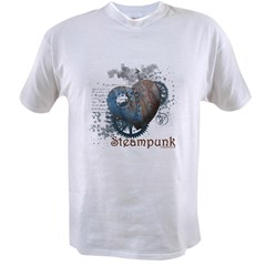Steampunk love riveted hear Value T-shirt