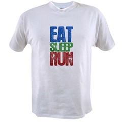 EAT SLEEP RUN Value T-shirt