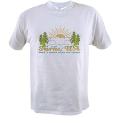 Forks, WA Vintage Value T-shirt