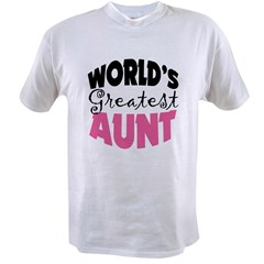 World's Greatest Aunt Value T-shirt