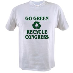 Go Green - Recycle Congress Value T-shirt