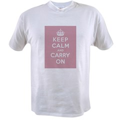 Keep Calm And Carry On Value T-shirt