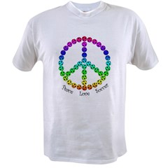 Peace.Love.Soccer Value T-shirt