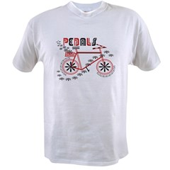 Pedals Cyclist Men's double dry short sleeve mesh Value T-shirt