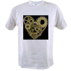 Women's Steampunk Heart T-Shirt (black) Value T-shirt