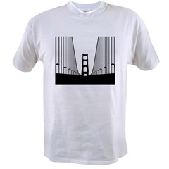 bay.bridge.black Value T-shirt