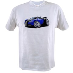 Veyron Black-Blue Car Value T-shirt