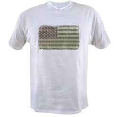 Camo American Flag [Vintage] Value T-shirt