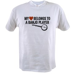 My Heart Banjo Player Value T-shirt