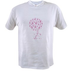Pink Ribbon Breast Cancer Tre Value T-shirt