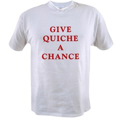"Polymorph ""Give Quiche A Chance"" Red Dwarf Value T-shirt"