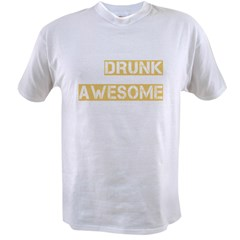 drunk awesome_dark Value T-shirt