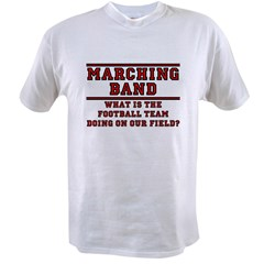 Football Team on Our Field Ash Grey Value T-shirt