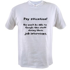 Pay attention funny teacher Value T-shirt