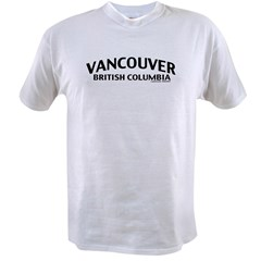 Vancouver British Columbia Value T-shirt