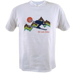 Ski Lake Tahoe Value T-shirt