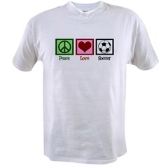 Peace Love Soccer Value T-shirt