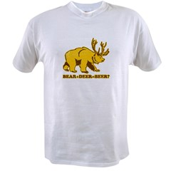 bear + deer = beer ?? Value T-shirt