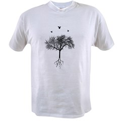 Tree and birds Value T-shirt