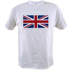 United Kingdom Union Jack Flag Value T-shirt