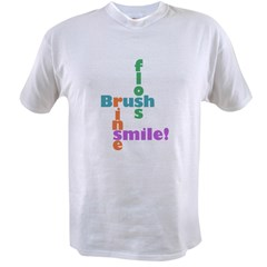 Brush Floss Rinse Smile Value T-shirt