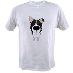 Big Nose/Butt Border Collie Value T-shirt