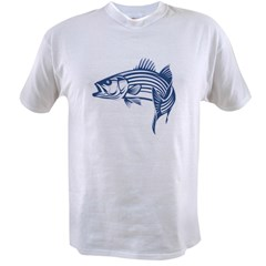 Graphic Striped Bass Value T-shirt