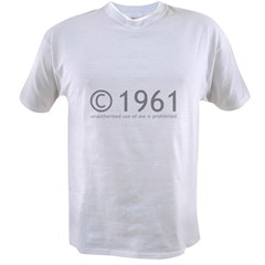 Copyright 1961 Humor Value T-shirt