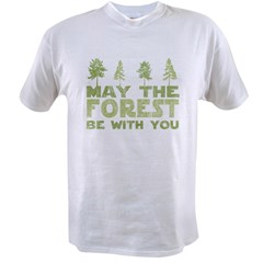 may the forest be with you light green.PNG Value T-shirt