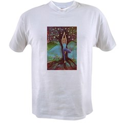Vriksasana, the Tree Pose Value T-shirt