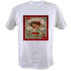Victorian Valentines Queen Of Value T-shirt