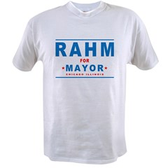 Rahm for Mayor Value T-shirt