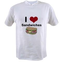 i love sandwiches Value T-shirt