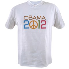 Obama 2012 Peace Value T-shirt