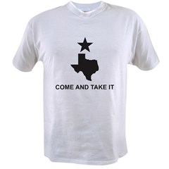 Come and Take It Slogan Value T-shirt