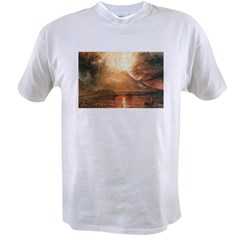 Vesuvius Erupting Value T-shirt