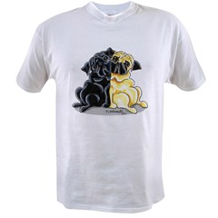Black Fawn Pug Value T-shirt