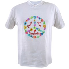 Scrapbooking Peace Sign Value T-shirt