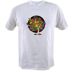 Autism-Tree-blk Value T-shirt