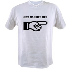 Just Married (her) Ash Grey Value T-shirt