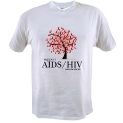 AIDS/HIV Tree Value T-shirt