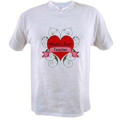 Worlds Best Teacher with heart copy Value T-shirt