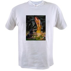 Fairies with Rottie Value T-shirt