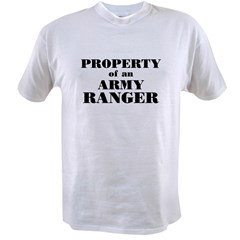 Property of an Army Ranger Value T-shirt