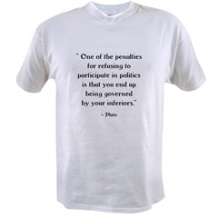Plato Quote #1 Ash Grey Value T-shirt