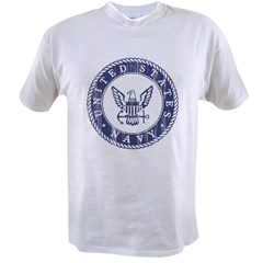 Distressed USN Logo Value T-shirt