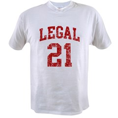 Legal 21 Birthday Value T-shirt