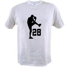 Baseball Uniform Number 28 Value T-shirt