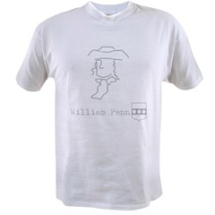William Penn with Argent Value T-shirt